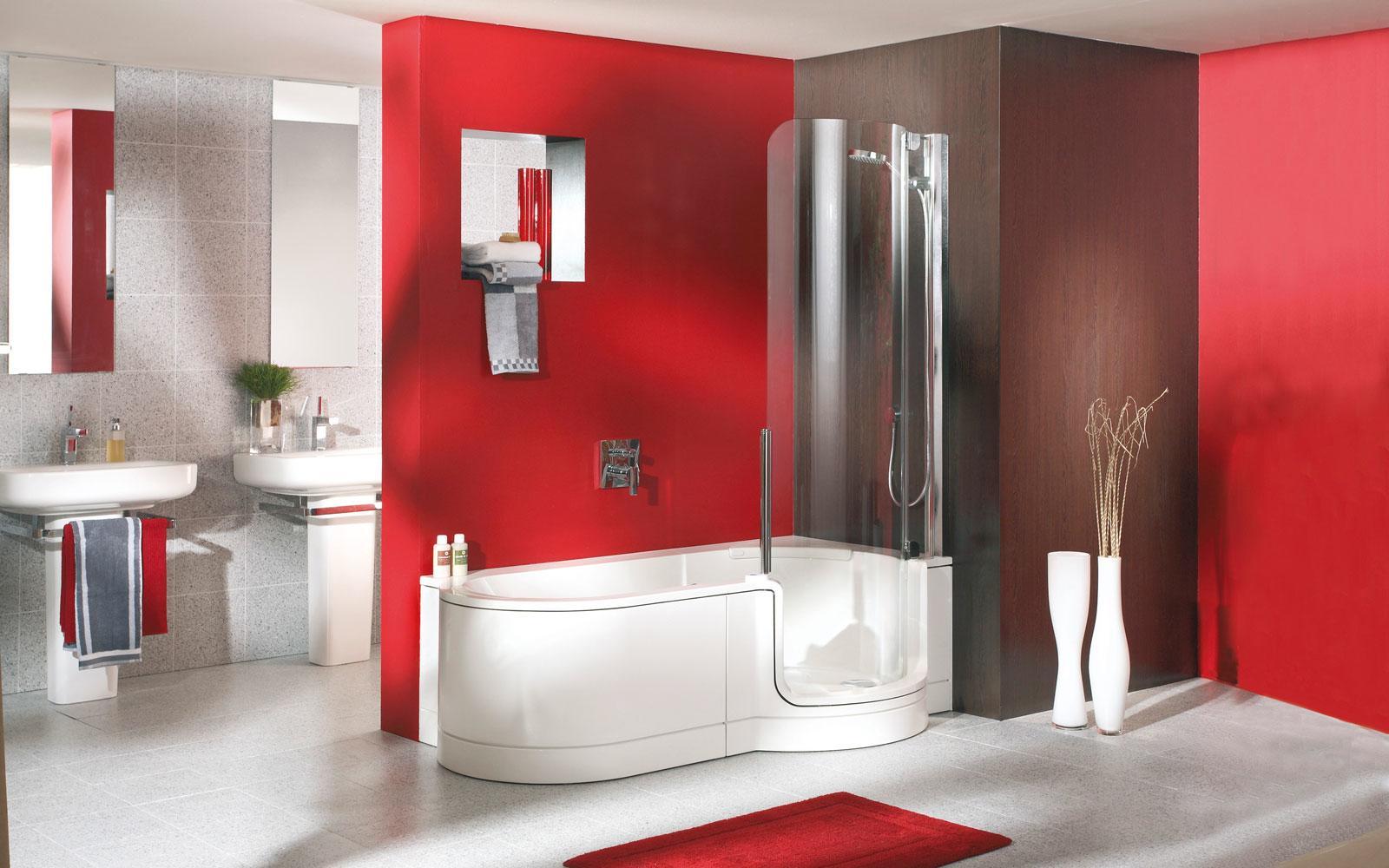 Duschbadewanne mit Tuer | bad & heizung | SHK ...